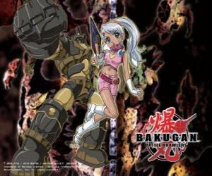 Puzzle Julie et sa gorem Subterra Guardian Bakugan