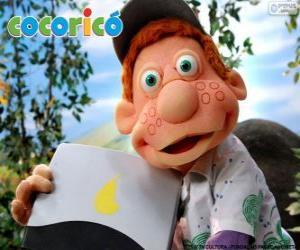 Puzzle Julio, l'enfant de la ferme Cocorico