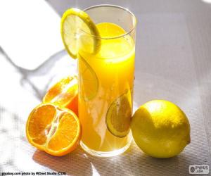 Puzzle Jus d'orange et de citron
