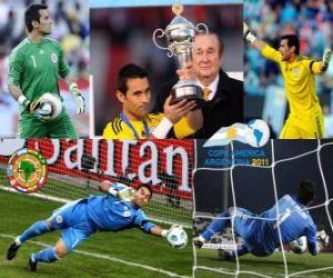 Puzzle Justo Villar meilleur gardien Copa America 2011