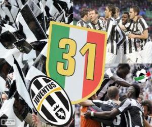Puzzle Juventus Turin, champion Serie A Lega Calcio 2012-2013, ligue italienne de Football
