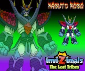 Puzzle Kabuto Robo. Invizimals The Lost Tribes. Invizimal formé afin de protéger les secrets de Kenichi