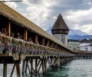 Puzzle Kapellbrücke, Suisse