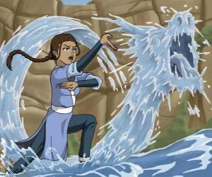 Puzzle Katara est une puissant maître de l'eau qui accompagne Aang et son frère Sokka
