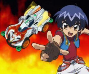 Puzzle Kazuya à le lancement de la voiture dans une course
