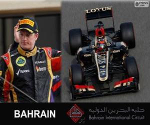 Puzzle Kimi Räikkönen - Lotus - Grand Prix de Bahreïn 2013, 2º classé