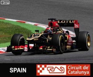 Puzzle Kimi Räikkönen - Lotus - Grand Prix d'Espagne 2013, 2º classé