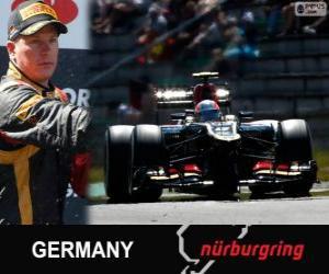 Puzzle Kimi Räikkönen - Lotus - Grand Prix d'Allemagne 2013, 2º classé