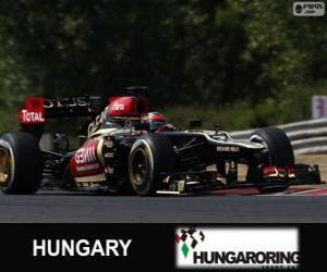 Puzzle Kimi Räikkönen - Lotus - Grand Prix de Hongrie 2013, 2º classé