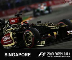 Puzzle Kimi Räikkönen - Lotus - Grand Prix de Singapour 2013, 3e classés