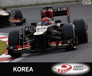 Puzzle Kimi Räikkönen - Lotus - Grand Prix de Corée 2013, 2º classé