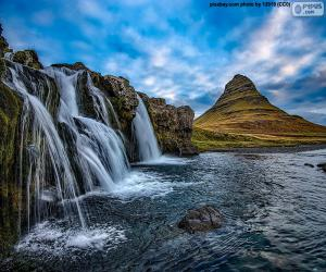 Puzzle Kirkjufellsfoss, Islande