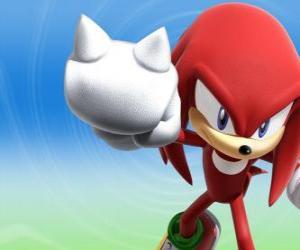 Puzzle Knuckles le Échidne, rival et ami de Sonic
