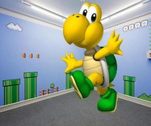 Puzzle Koopa Troopa, tortues bipèdes sont ennemis dans les jeux Mario