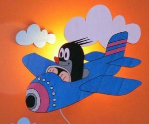 Puzzle Krtek en avion
