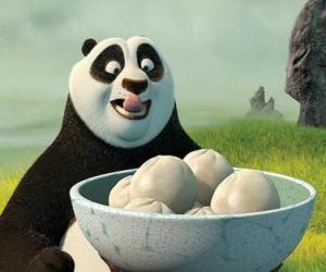 Puzzle Kung Fu Panda veut manger quelques biscuits à base de riz