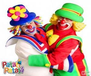 Puzzle L'étreinte des clowns Patatí et Patatá