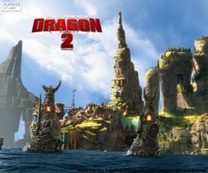 Puzzle L'île de Berk, Dragons 2