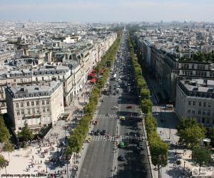 Puzzle L'Avenue des Champs-Elysées, Paris