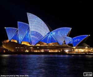 Puzzle L'Opéra de Sydney de nuit
