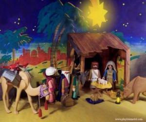 Puzzle L'Adoration des Mages d'Orient à l'Enfant Jésus