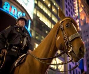 Puzzle L'agent de police à cheval