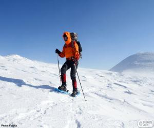 Puzzle L'alpiniste cours d'une traversée