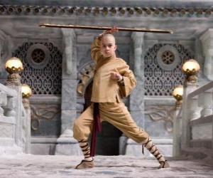 Puzzle L'avatar Aang est le principal protagoniste de l'aventure et son destin est de maîtriser les quatre éléments: Air, Eau, Terre et Feu