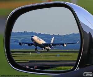 Puzzle l'avion qui décolle