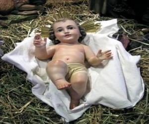 Puzzle L'Enfant Jésus dans la crèche
