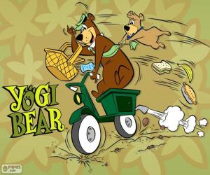 Puzzle L'ours Yogi et Boo-Boo en moto