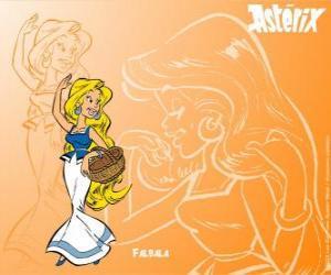 Puzzle La belle blonde Falbala est l'amour platonique d'Obélix