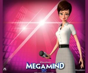 Puzzle La belle journaliste Roxanne Ritchi de qui est amoureux Megamind