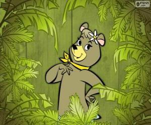 Puzzle La belle ours Cindy est la petite amie de Yogi  l'ours