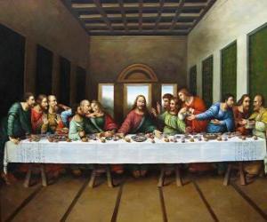 Puzzle La Cène du Seigneur ou Cène - Jésus à ses Apôtres réunis le soir du Jeudi Saint