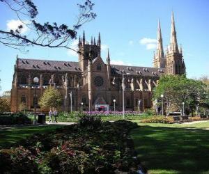 Puzzle La cathédrale catholique Sainte Marie de Sydney, Australie