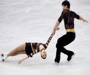 Puzzle La concurrence pour paires est l'une des disciplines du patinage artistique