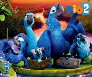 Puzzle La famille de Blu en Amazonie