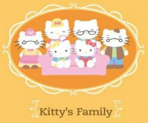 Puzzle La famille de Hello Kitty