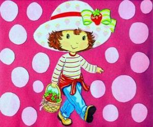 Puzzle La jolie poupée Charlotte aux fraises