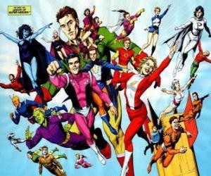Puzzle La Légion des Super-Héros est une équipe de super-héros des bandes dessinées appartenant à l'univers appartenant à la rédaction DC.