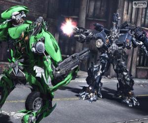 Puzzle La lutte entre deux Transformers