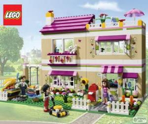 Puzzle La maison d'Olivia, Lego Friends