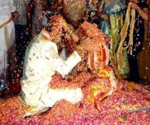 Puzzle La mariée et le marié selon la tradition hindoue
