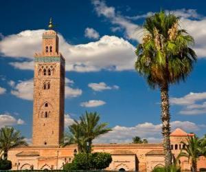 Puzzle La mosquée  Koutoubia, Marrakech, Maroc