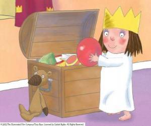 Puzzle La petite princesse avec ses jouets