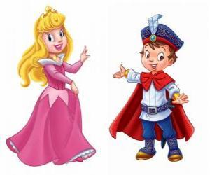 Puzzle La princesse et le prince parle