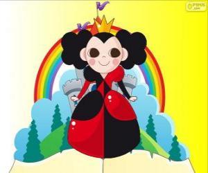 Puzzle La Reine de Cœur, le croquet est son hobby