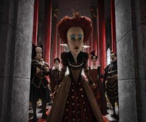 Puzzle La Reine Rouge (Helena Bonham Carter) est le souverain tyrannique des Enfers.