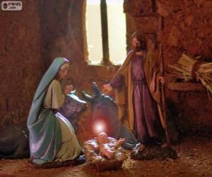 Puzzle La Sainte Famille à la veille de Noël
